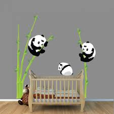 panda wall decal interior design for home remodeling spectacular