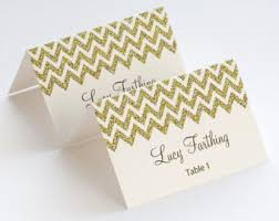 printable name place cards gold place card etsy