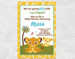 lion king baby shower invitations lion baby shower baby shower invitations