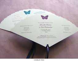fan program butterfly wedding program fan outdoor summer wedding