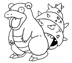 coloring pages pokemon slowbro drawings pokemon