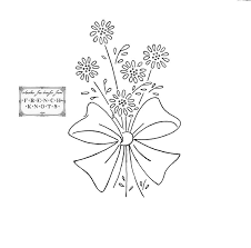 Flower Designs For Embroidery Embroidery Transfer Patterns Vintage Flowers French Knots
