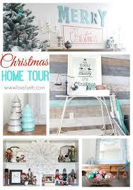 aqua and red christmas home tour lovely etc