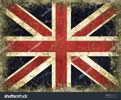 Englang Flag England Flag Painted On Old Wall Stock Illustration 89612677