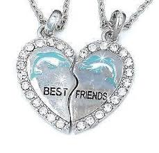best friend heart necklace images Best friend necklace ebay JPG