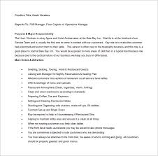 Hostess Job Description For Resume Hostess Job Description Template U2013 10 Free Word Pdf Format