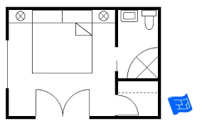 master bedroom floor plans - Small Bedroom Floor Plans