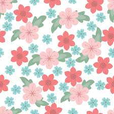 white flower pattern ppt backgrounds blue colors flowers