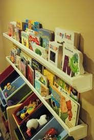 Kid Bookshelf Rain Gutter Book Shelves Diy Home Decor Project Cheap And Easy