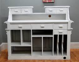 cottage chic antique painted white store counter french