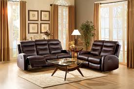 homelegance coppins reclining sofa set top grain leather match