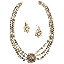 diamond necklace earring set images Victorian 40 carat diamond necklace and earring set circa 1880 jpg