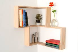 bedroom fancy floating corner shelf contemporary display and