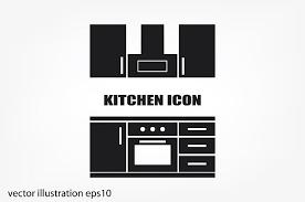 kitchen icon drawing kitchen interior plan icon icons creative market