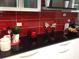 dark red splashback tiles red kitchen splash back holt red