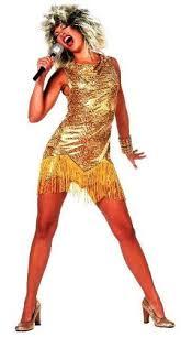 Ike Tina Turner Halloween Costumes Tina Turner Fancy Dress Costume Wig Mic U0026 Body Paint Uk 8 10