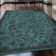 Teal Living Room Rug Aqua Rug Ebay