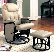 X Rocker Recliner Furniture Modern White Leather Swivel Rocker Reclining Chair With