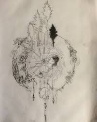 symbolism of a tree compass tattoo design series part 1 wip by salix tree tattoos