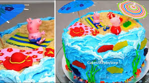 peppa pig cake ideas peppa pig cake kids cakes decorating with buttercream fondant