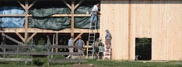 brooks post beam affordable timber frame homes barns community