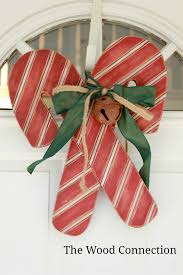 the wood connection candy cane door hang christmas pinterest