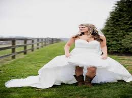 high low wedding dress with cowboy boots wedding dress with boots archives webshop nature