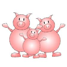 pigs cartoon stock photography image 7288602