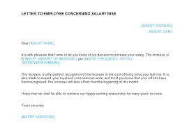 salary increase letter template from employer to employee south