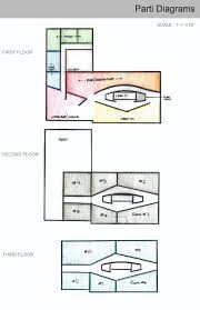 the beginning stages of the boutique hotel design space planning these parti diagrams were strongly based off the imagery that was found to support the concept