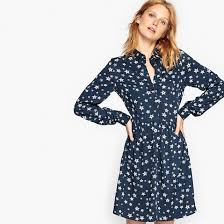 print dress print dress print navy background la redoute collections