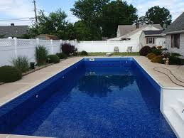 Deep Backyard Pool by Premier U003cbr U003esummerwave Deep Blue Fusion U003cbr U003e27 Mil Apco Pools
