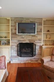 replace faux stone fireplace fabulous home ideas