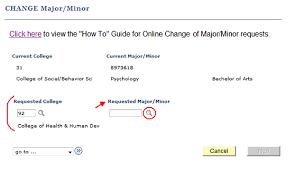 change major or minor california state university northridge