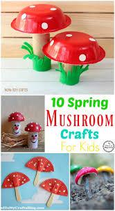 10 spring mushroom crafts for kids planning playtime
