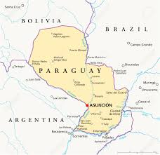 Colorado Political Map by Paraguay Political Map With Capital Asuncion National Borders