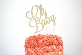 baby cake topper oh baby cake topper baby shower cake topper gender reveal cake