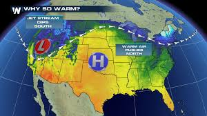 Jet Stream Forecast Map Warm Weather For The Northern And Central Plains Monday Afternoon