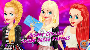 disney college spring break parties princesses elsa ariel