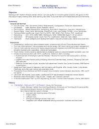 quality assurance resume example sample qa format manual tester