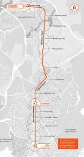 Metro Route Map by 05 U2013 Canberra U0027s Light Rail Project Stage 1 Route Map Source