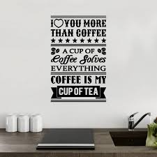 coffee sayings quote wall sticker by mirrorin notonthehighstreet com coffee sayings quote wall sticker