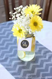 baby shower centerpiece ideas 31 baby shower decorating ideas with gray yellow theme baby