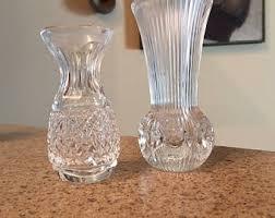 Single Stem Glass Vase Small Crystal Vase Etsy