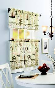 Better Homes And Gardens Kitchen Curtains Kitchen Curtain Valances Yellow Gray Flower With Gray Striped