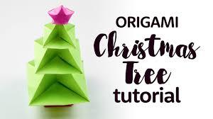 Origami Christmas Decorations Reindeer by Origami Christmas Tree Tutorial Diy Paper Kawaii Youtube