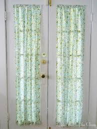 Curtains For Front Door Front Door Curtains Living Well On The Cheap