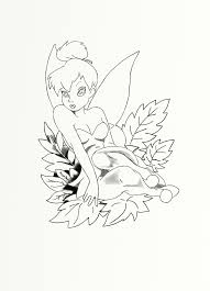 tinkerbell tattoo design sister drawn freehand mouth