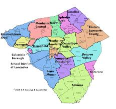 map of lancaster county pa lancaster county schools