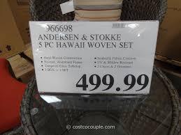 Kirkland Signature Patio Heater by Andersen And Stokke 5 Piece Hawaii Woven Set